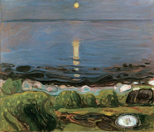 Edvard Munch, Summer Night At The Beach, 1902-03