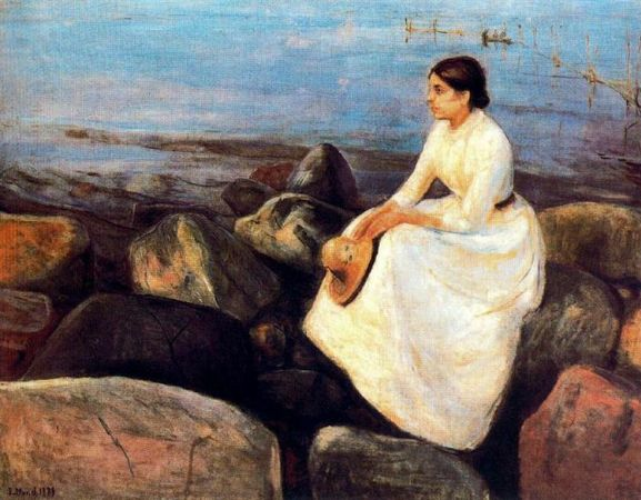 Edvard Munch, Summer Night, Inger On The Beach, 1889