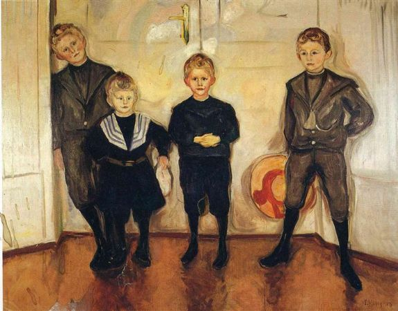 Edvard Munch, The Four Sons of Dr. Linde, 1903