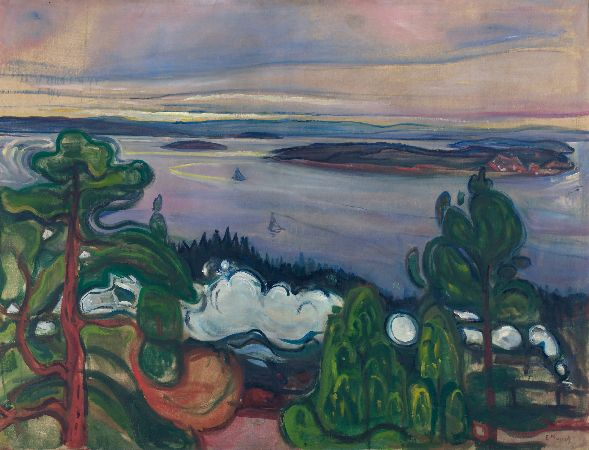Edvard Munch, Train Smoke, 1900