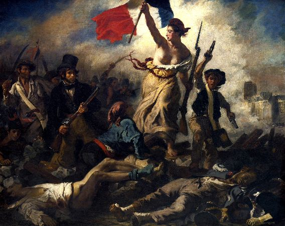 Eugène Delacroix, Liberty Leading The People, 1830