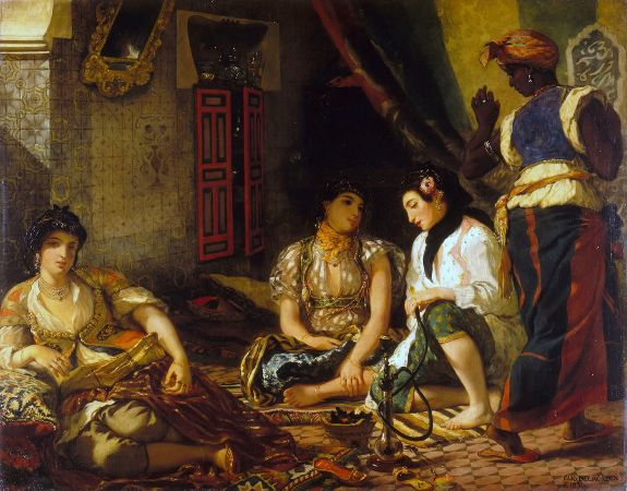 Eugène Delacroix, Women of Algiers In Their Apartment, 1834