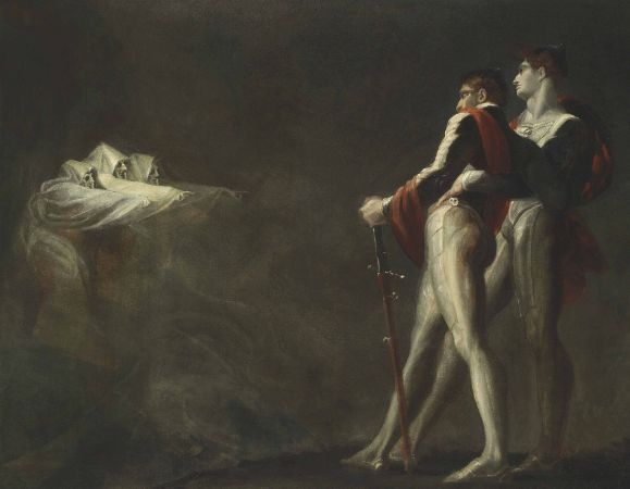 Henri Fuseli, The Three Witches Appearing To Macbeth and Banquo, 1800-1810