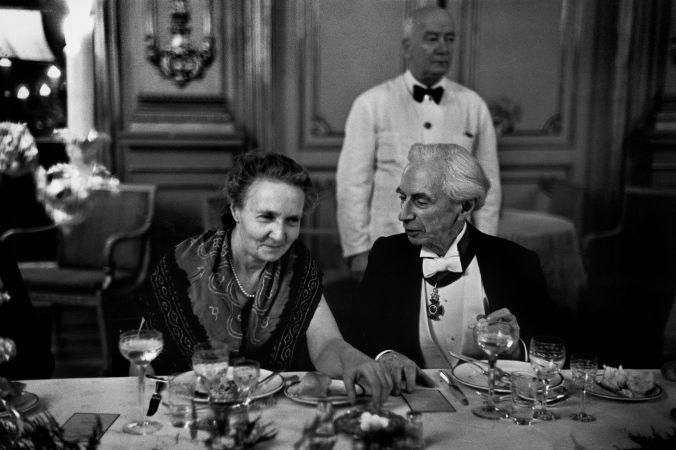 Irène Joliot-Curie ve Bertrand Russell, 1950