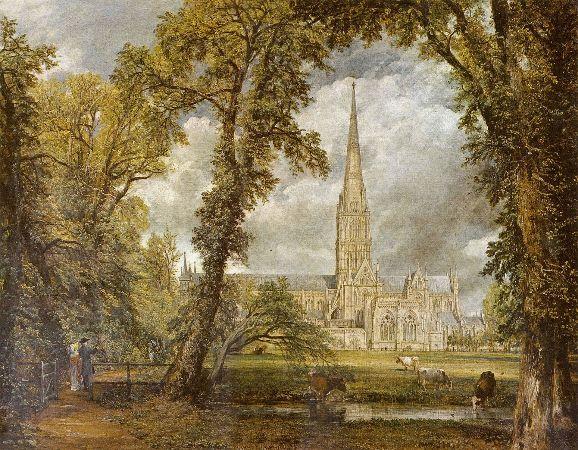 John Constable, Salisbury Cathedral From The Bishop's Grounds, 1825