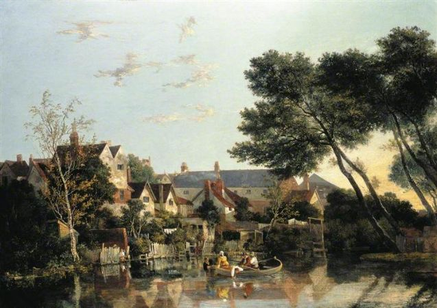 John Crome, Norwich River, Afternoon