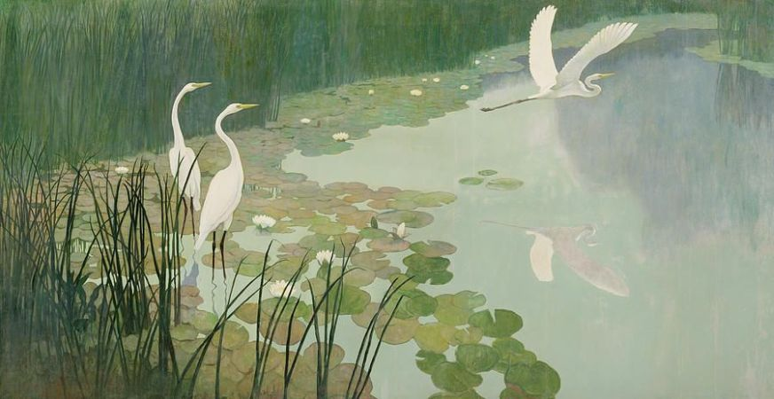Newell Convers Wyeth, Herons In Summer