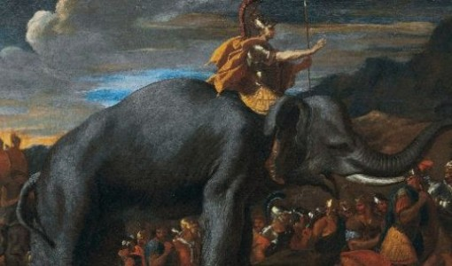 Nicolas Poussin, Hannibal Crossing The Alps On Elephants, 1625-1626