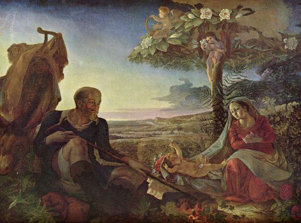 Otto Runge, Die Ruhe auf der Flucht nach Ägypten, 1806