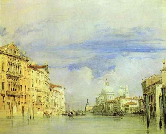 Richard Parkes Bonington, The Grand Canal In Venice, 1827