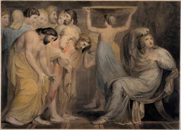 William Blake, Joseph's Brethren Bowing Down Before Him, 1785