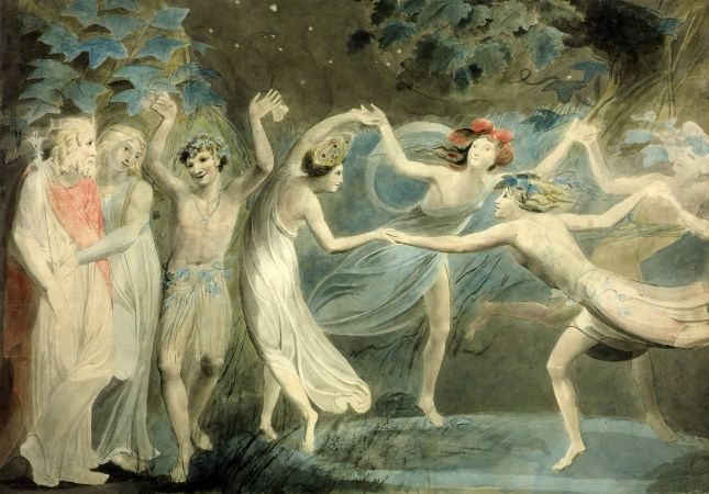 William Blake, Oberon, Titania and Puck With Fairies Dancing, 1786