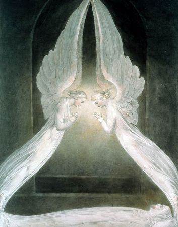 William Blake, The Angels Hovering Over The Body of Christ In The Sepulchre, 1805