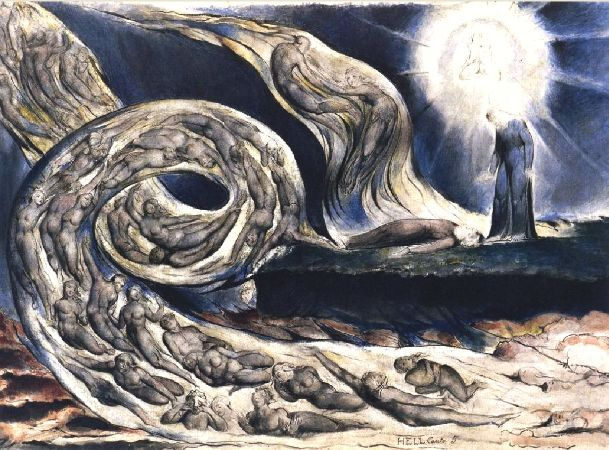 William Blake, The Lovers Whirlwind, 1824-27