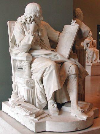 Augustin Pajou, Marble Statue of Blaise Pascal