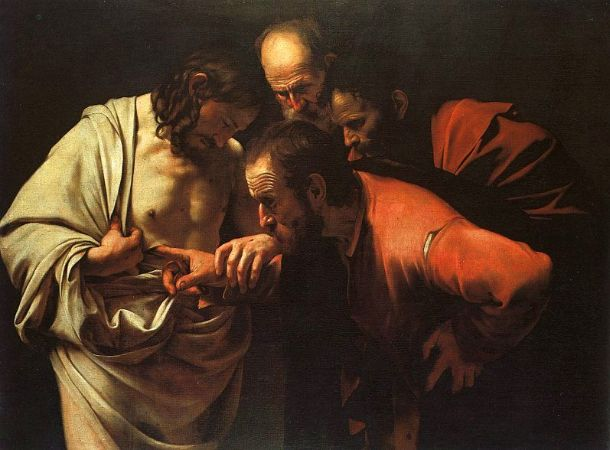 Caravaggio, The Incredulity of Saint Thomas, 1588