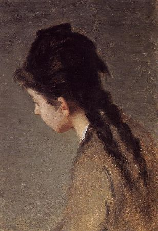 Eva Gonzalès, Portrait of Jeanne Gonzales In Profile, 1883