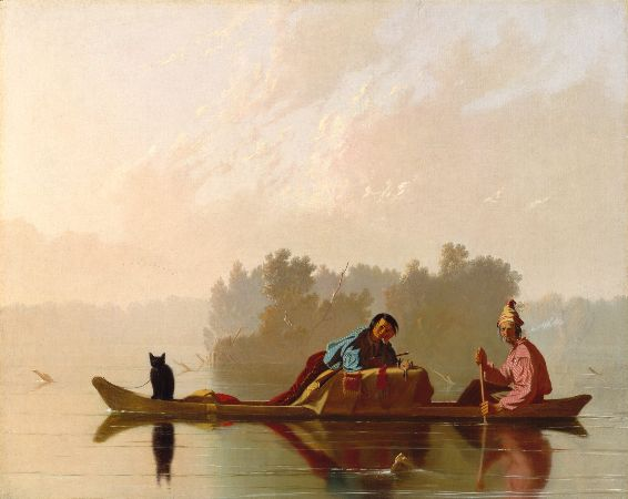 George Caleb Bingham, Fur Traders Descending The Missouri, 1845