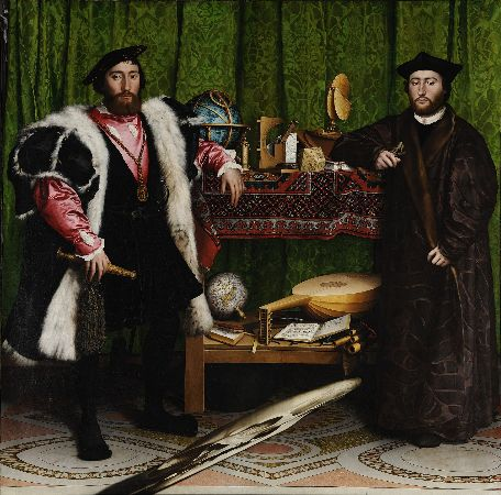 Hans Holbein The Younger, The Ambassadors, 1533