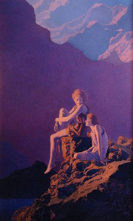 Maxfield Parrish, Contentment, 1927