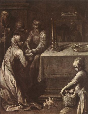 Quentin Varin, Presentation of Christ In The Temple, 1620