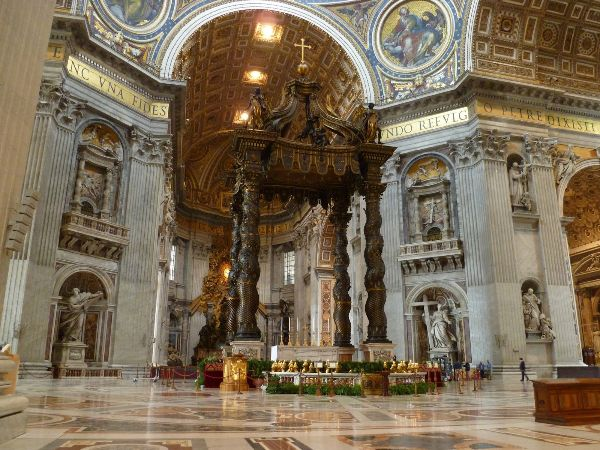 St. Peter's Basilica, Chair of Saint Peter, Baldachin, 1624-1633
