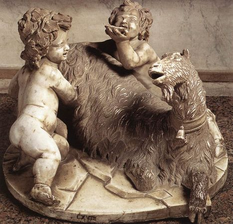 The Goat Amalthea with the Infant Jupiter and a Faun, 1615