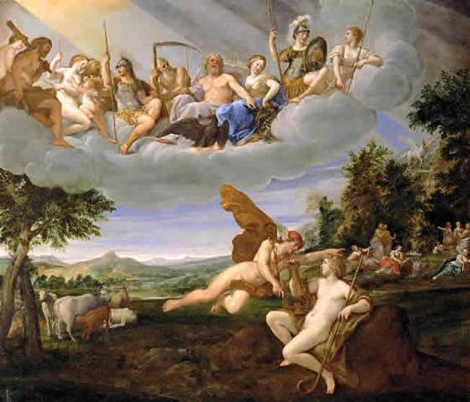 Francesco Albani, Apollo and Hermes, 1635