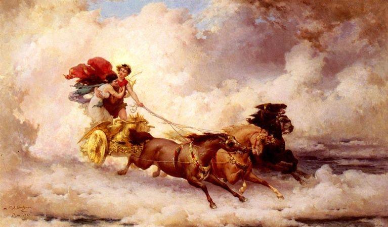 Frederick Arthur Bridgman, Apollon Enlevant Cyrene (Apollo Abducting Cyrene)