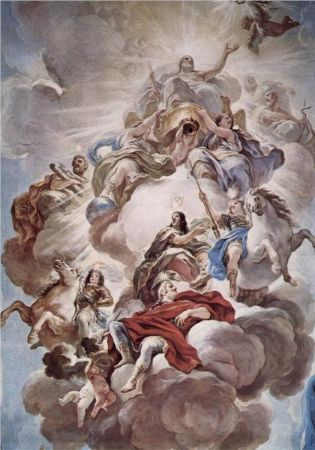 Luca Giordano, Triumph of the Medici In The Clouds of Mount Olympus, 1684-1686