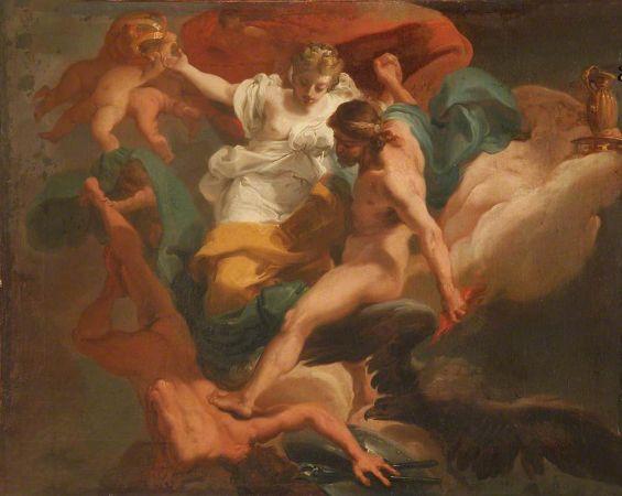 Ubaldo Gandolfi, Zeus with Hera Expelling Hephaestus