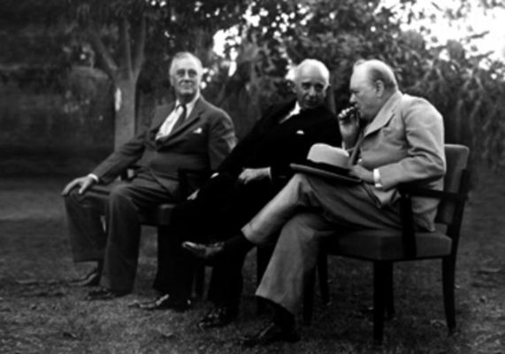 Franklin Roosevelt, İsmet İnonu ve Winston Churchill, 1943