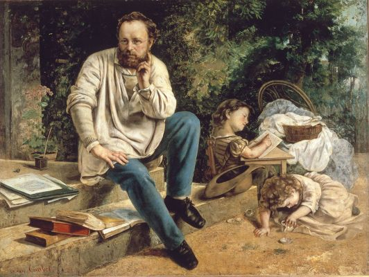Gustave Courbet, Pierre Joseph Proudhon and His Children, 1865