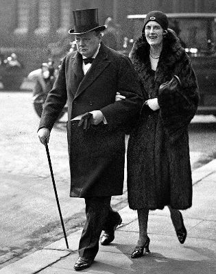 Winston Churchill ve esi Clementine, 1939