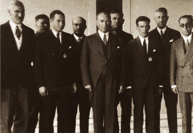 ataturk, amerikali havacilari kabulu, 1931