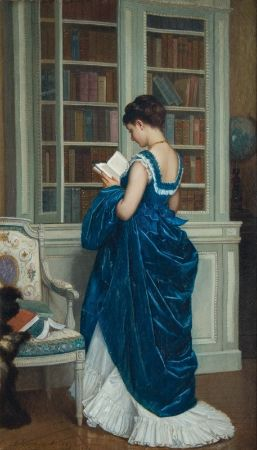 Auguste Toulmouche, In The Library, 1872