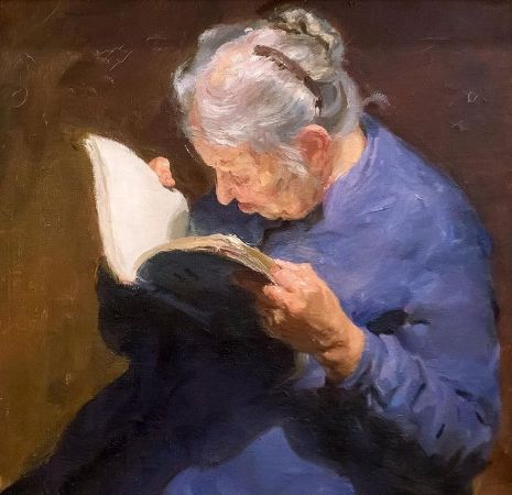 Boris Ivanovich Kopylov, Old Woman Reading, 1959