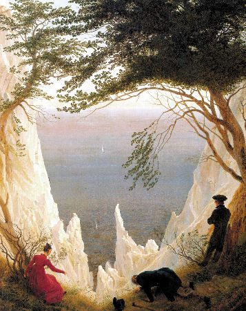 Caspar David Friedrich, Chalk Cliffs On Rugen, 1818-19