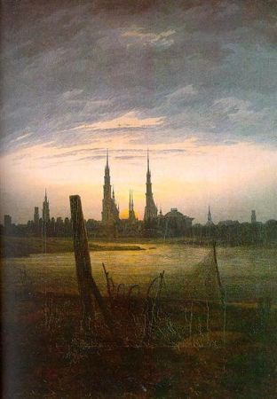 Caspar David Friedrich, City At Moonrise, 1817