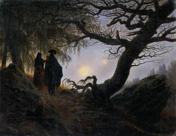 Caspar David Friedrich, Man And Woman Contemplating The Moon, 1824