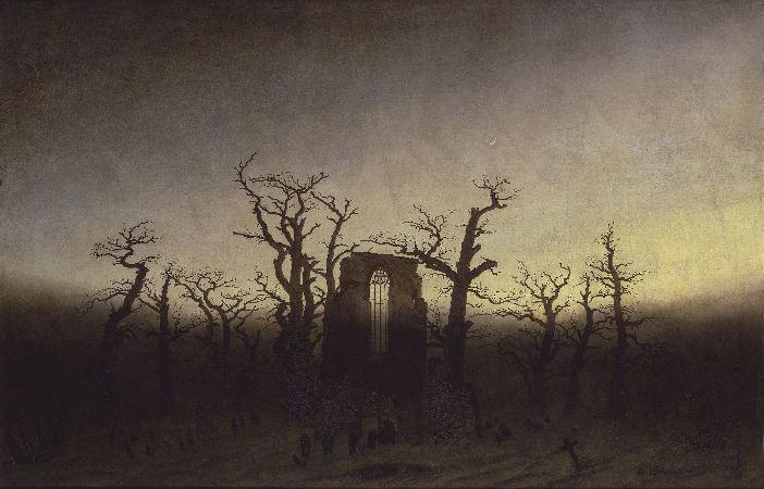 Caspar David Friedrich, The Abbey In The Oakwood, 1809-10