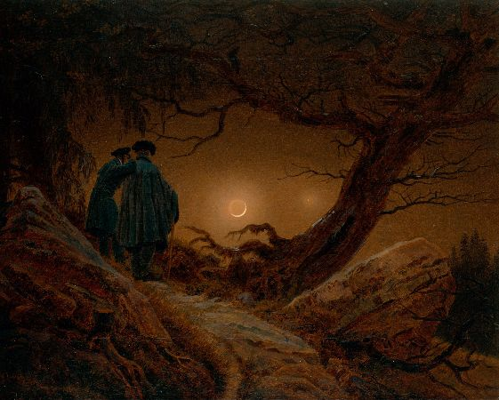Caspar David Friedrich, Two Men Contemplating The Moon, 1825-30