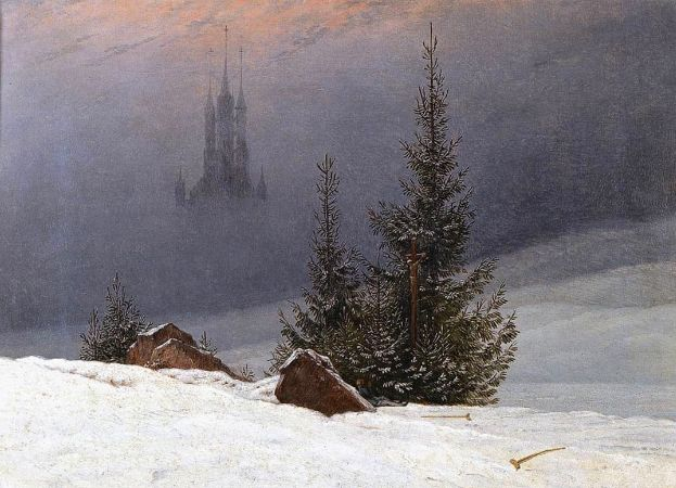 Caspar David Friedrich, Winter Landscape With Church, 1811