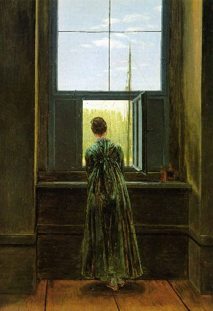 Caspar David Friedrich, Woman At A Window, 1822