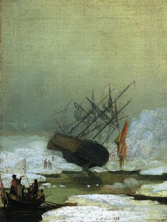 Caspar David Friedrich, Wreck In The Sea of Ice, 1798