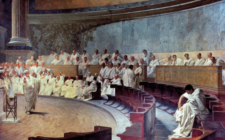 Cesare Maccari, Cicero Denounces Catiline, 1889