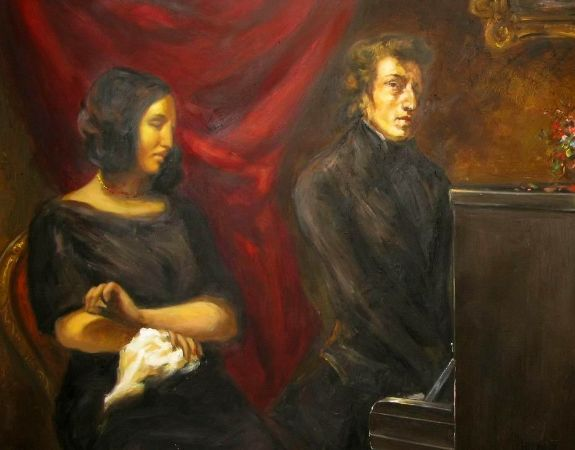 Eugène Delacroix, Portrait of Frédéric Chopin and George Sand, 1838