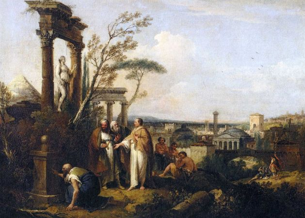 Francesco Zuccarelli, Cicero Discovers The Tomb of Archimedes, 1747