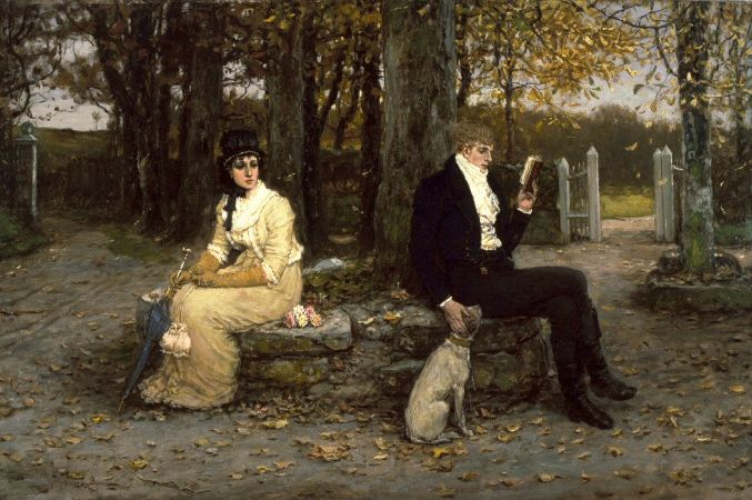 George Henry Boughton, The Waning Honeymoon, 1878