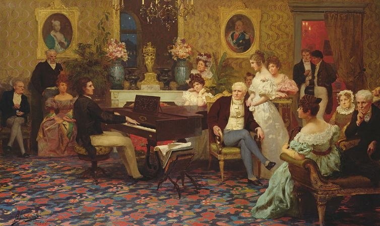 Hendrik Siemiradzki, Chopin Playing The Piano In Prince Radziwill's Salon, 1887